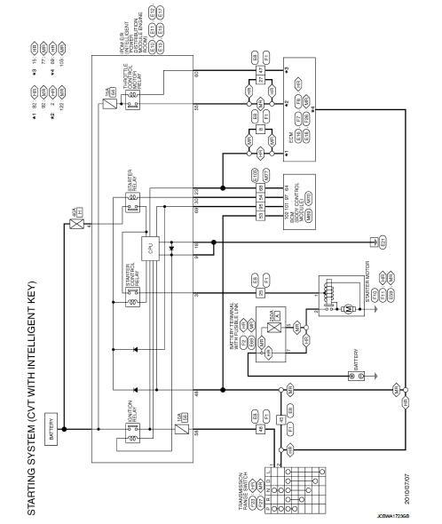Starting System  With Intelligent Key  - Wiring Diagram - Starting System