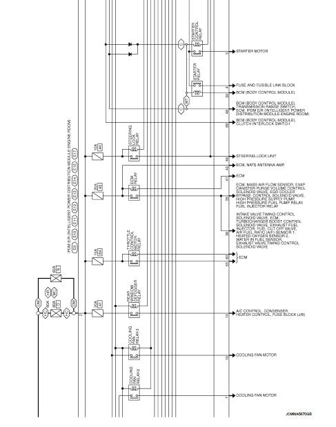 Wiring Diagram - Power Control System Ipdm E  R  With I-key