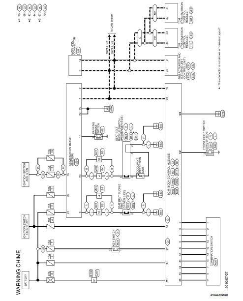 Wiring Diagram - Warning Chime System